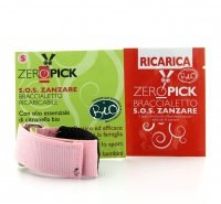 Zeropick - Braccialetto Antizanzare Rosa - Taglia S