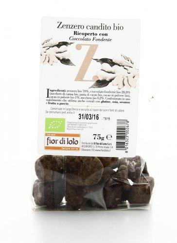 Zenzero Candito Ricoperto di Cioccolato Fondente Bio