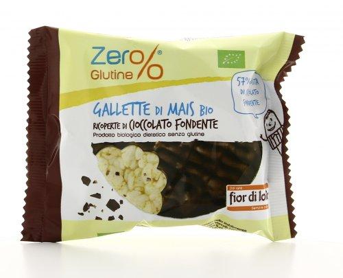 Zero Glutine - Gallette di Mais Bio Ricoperte di Cioccolato Fondente