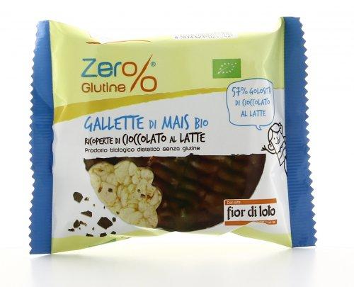 Zero Glutine - Gallette di Mais Bio Ricoperte di Cioccolato al Latte