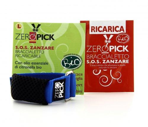 Zeropick - Braccialetto Antizanzare Blu - Taglia S