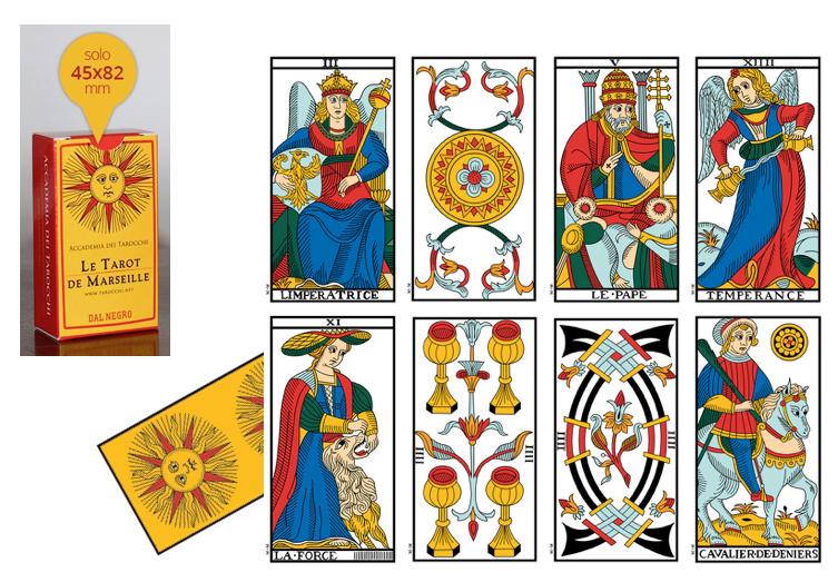 I Tarocchi di Marsiglia - Le Tarot de Marseille - Edizione Mini: Le Carte