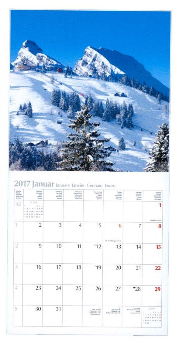 Calendario Alpi - Alpen 2017