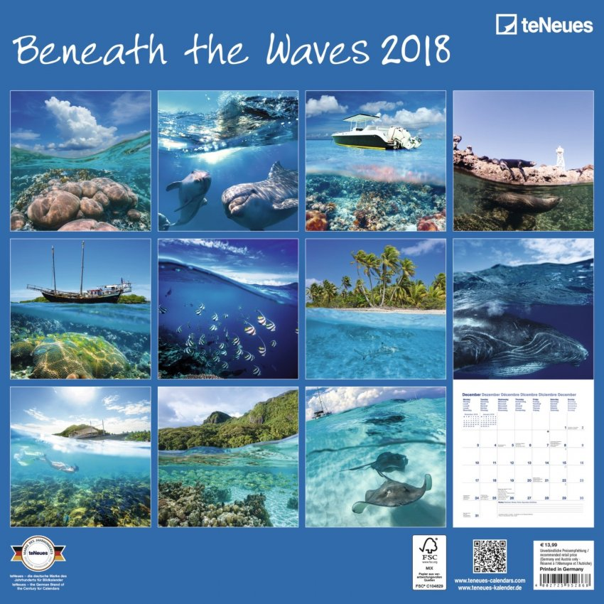 Calendario Beneath the Waves 2018 - Retro