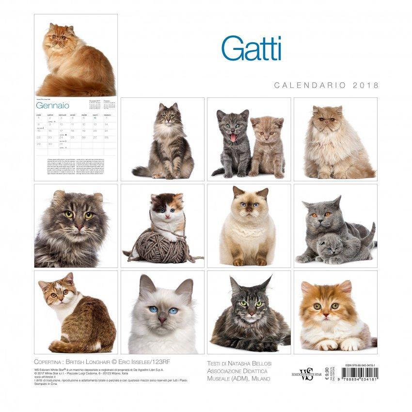 Calendario da Muro 2018 Gatti