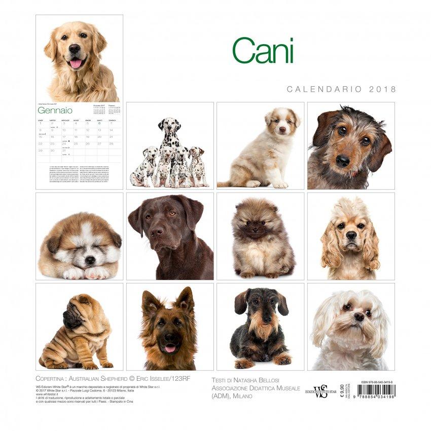 Calendario da Muro 2018 - Cani - Retro