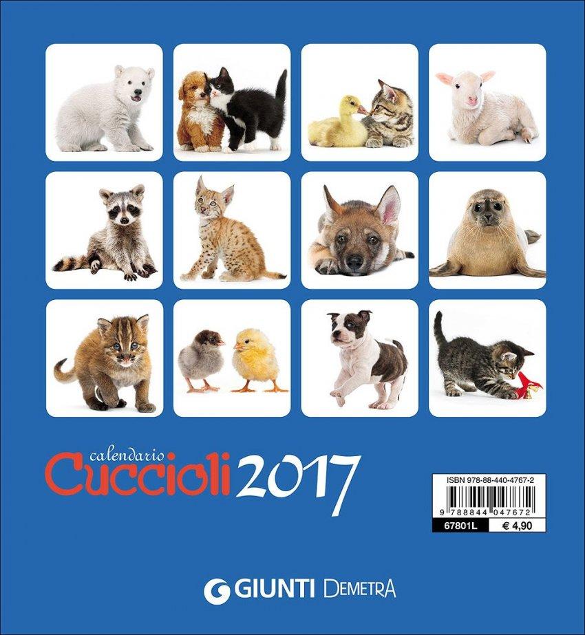Calendario da Tavolo - Cuccioli 2017