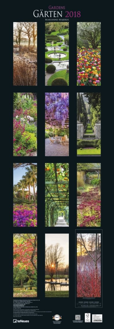 Calendario Gärten 2018 - Grande Formato - Retro