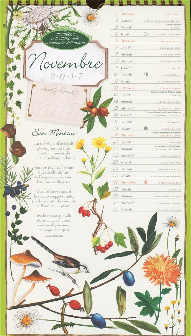 Calendario 2017 - Poesie in Fiore