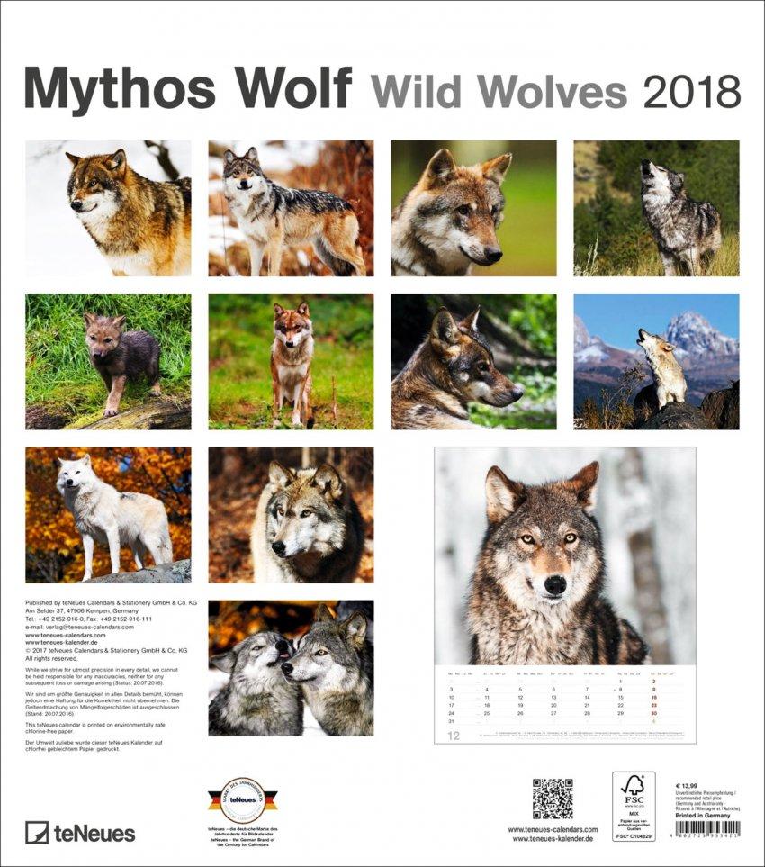 Calendario Wild Wolves 2018