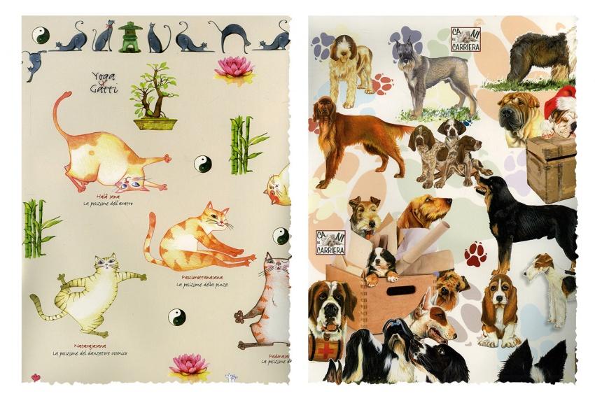 Carta per Découpage - Gatti - Cani