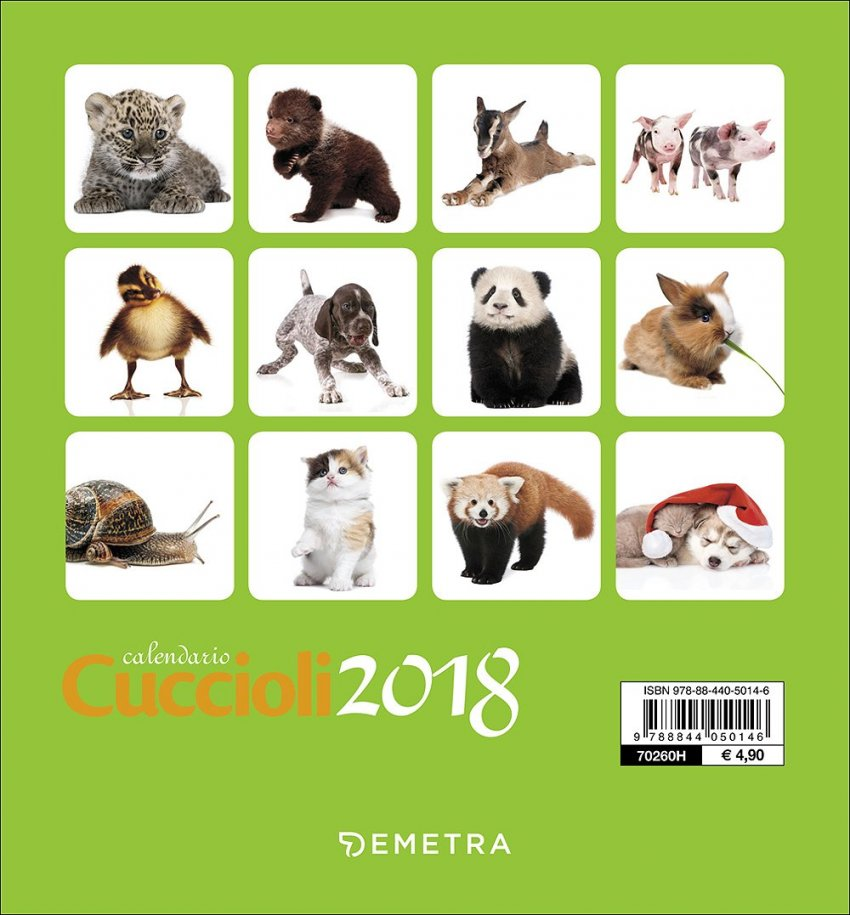 Calendario da Tavolo 2018 - Cuccioli