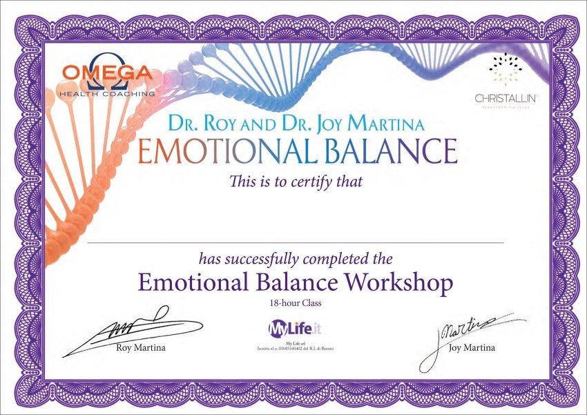 Equilibrio Emozionale Attestato