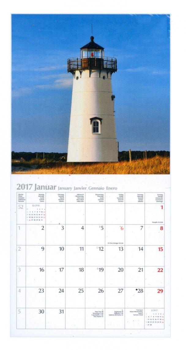 Calendario Fari - Lighthouses - Leuchtturme 2017