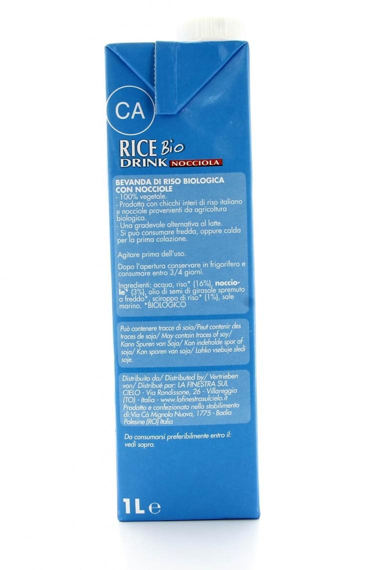 Rice drink nocciola bio la finestra sul cielo - Finestra sul cielo ...