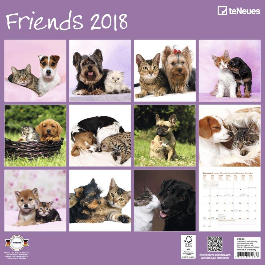 Calendario Friends 2018 - Retro