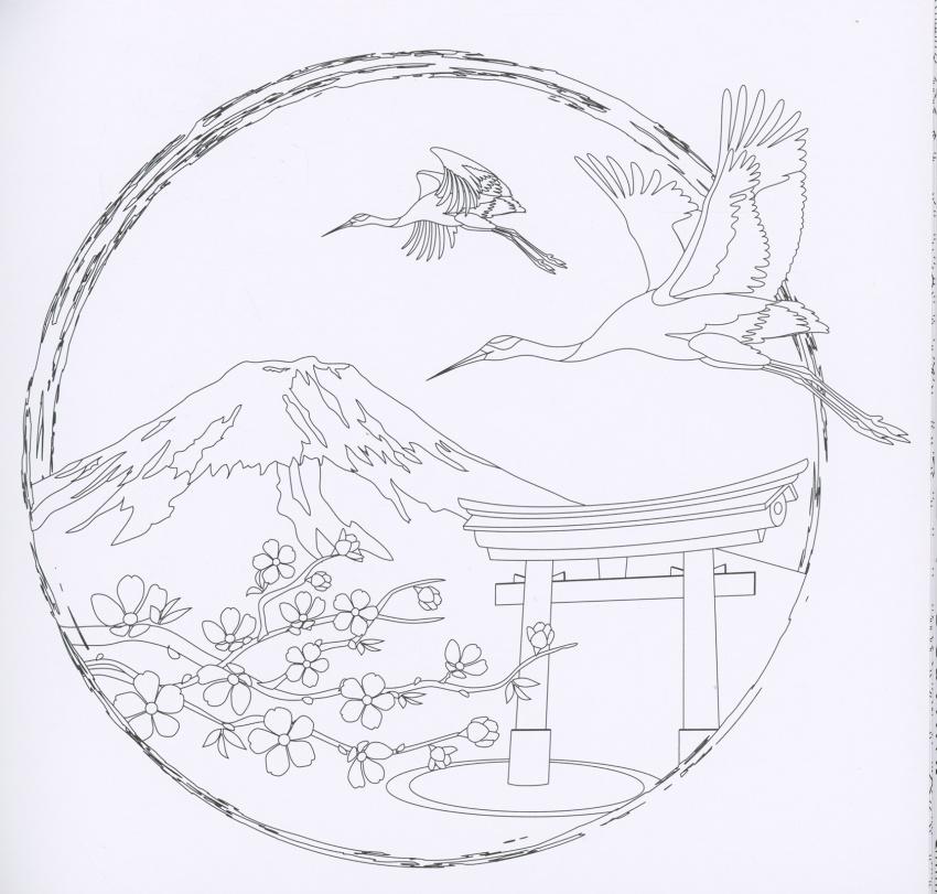Giardino giapponese album antistress for Disegno giardini