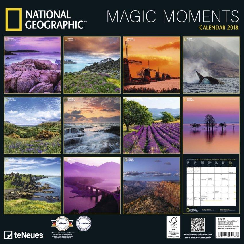 Calendario Magic Moments National Geographic 2018