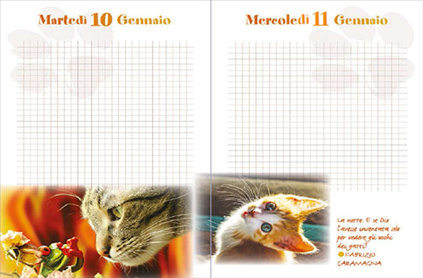 Minù - Agenda del Gatto 2018 - Pagine interne