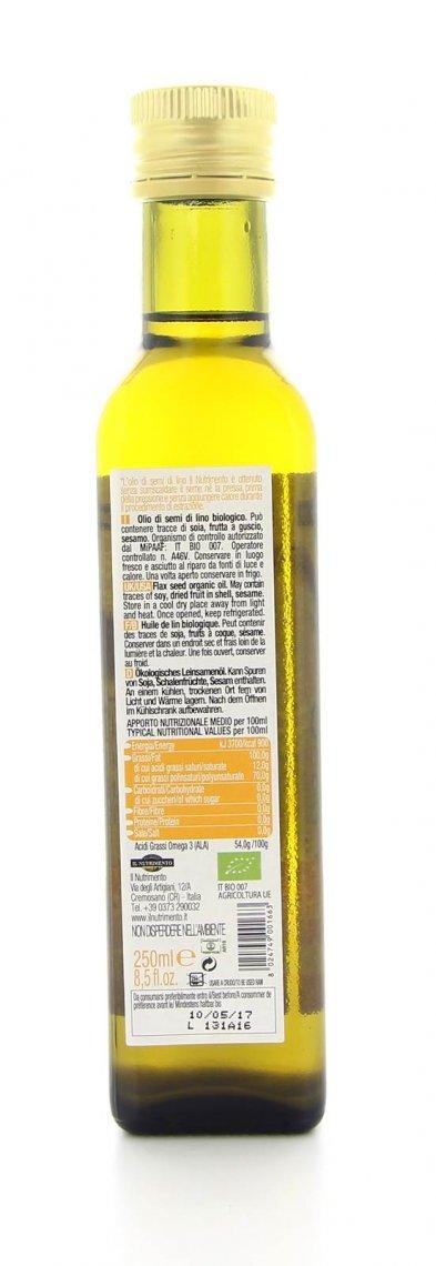 Olio di Lino Crudo Biologico - Il Nutrimento