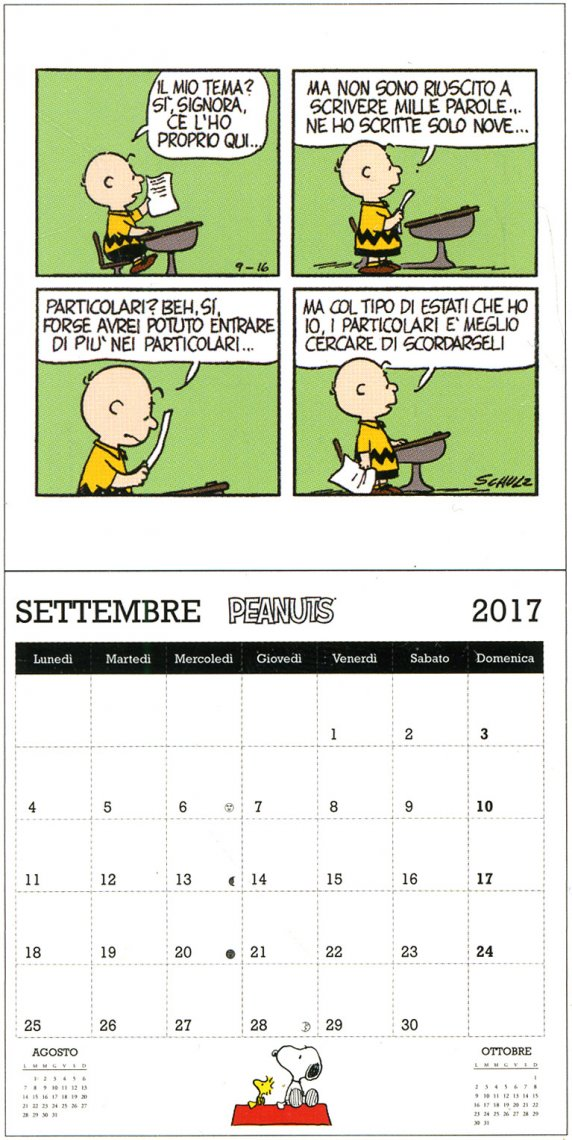 Peanuts - Calendario da Parete 2017