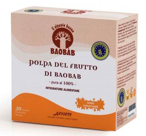 Polpa del Frutto di Baobab Bio - 20 Bustine Monodose
