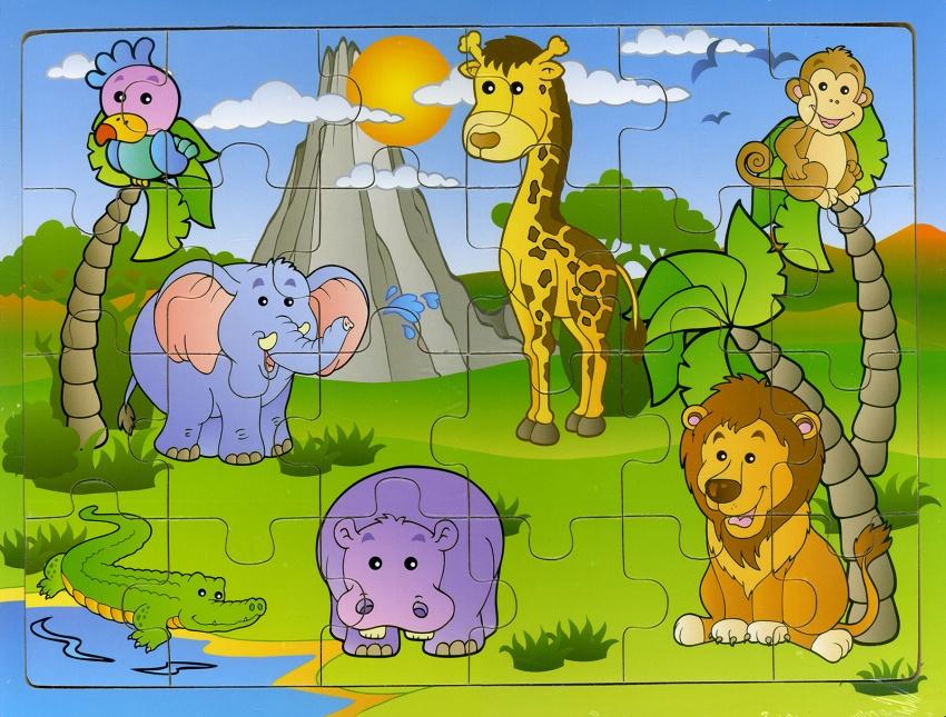 Animali della Giungla - Puzzle in Legno