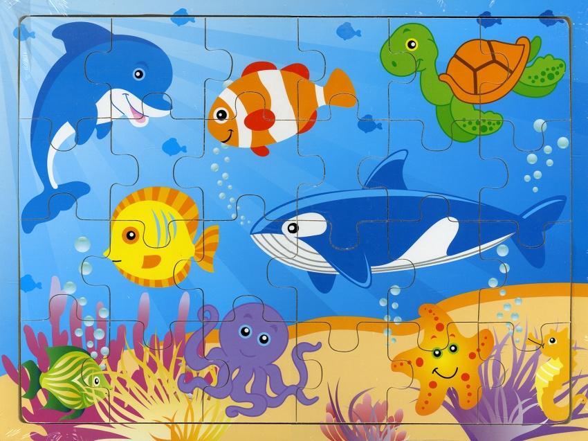 Pesci e Animali Marini - Puzzle in Legno