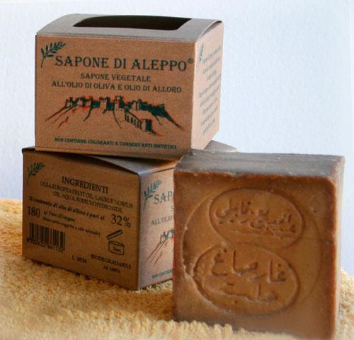 Sapone di Aleppo Vegetale all'Olio di Oliva e Olio di Alloro al 32%