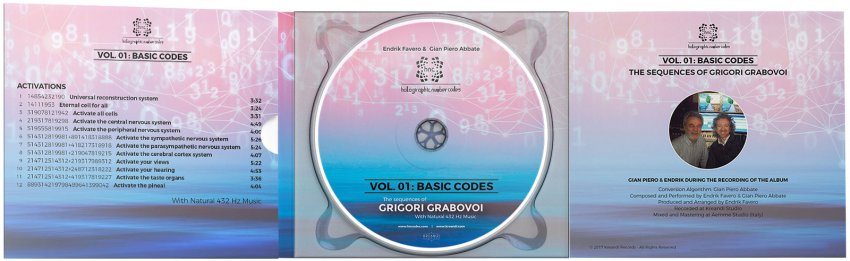The Sequences of Grigori Grabovoi - HNC. Vol. 1 - Basic Codes - 432 Hz CD - Aperto