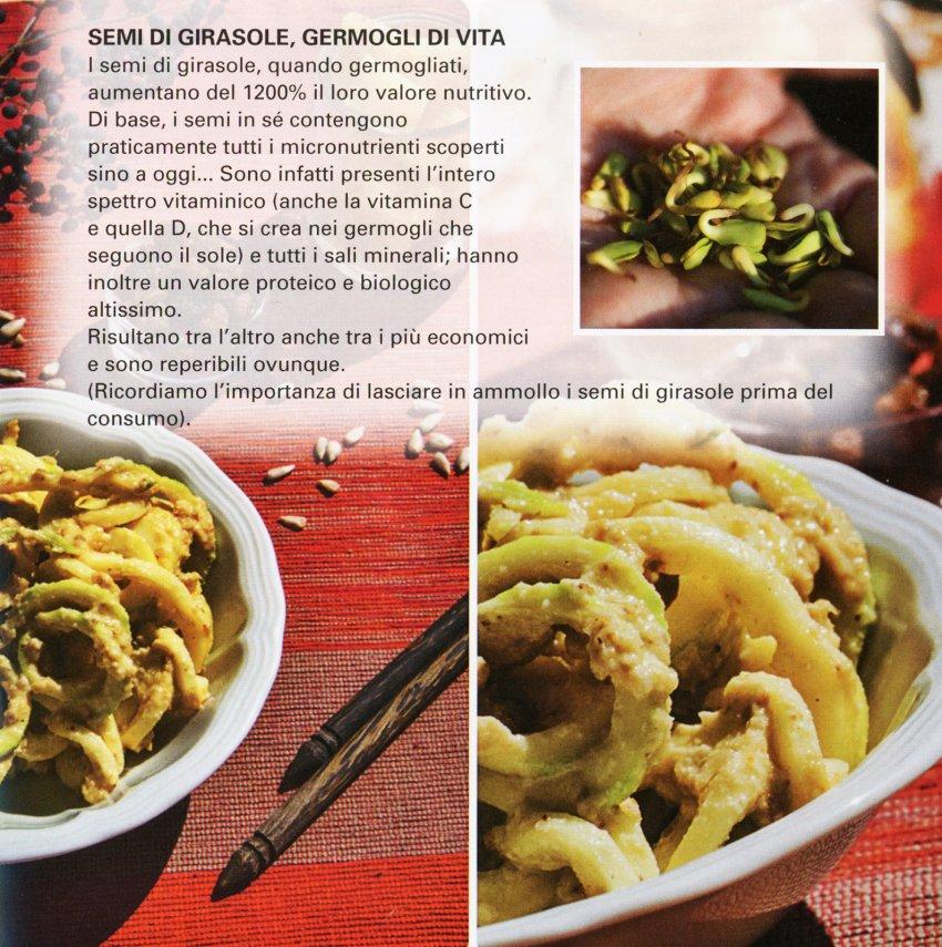 Spaghetti semi girasole