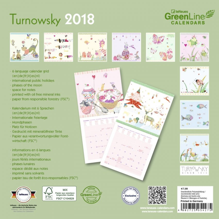 Calendario Green Diary - Turnowsky 2018