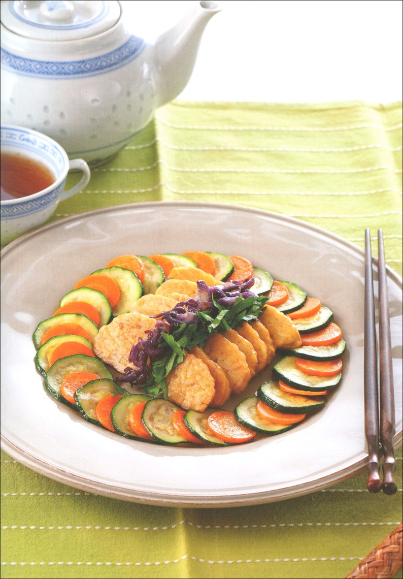 Piatto vegetariano composto