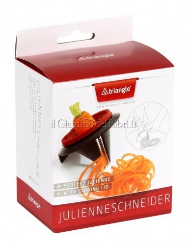 Coltello a Spirale Dentellato Lama Julienne Per creare spaghetti di verdure da friggere o bollire
