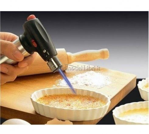 Una pistola per caramellare e creare deliziosi crème brûlée