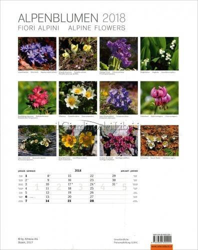 Calendario Fiori delle Alpi - Alpenblumen 2018 - Retro