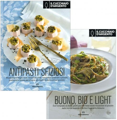 Il Cucchiaio d'Argento - 2 Volumi: Antipasti Sfiziosi & Buono, Bio e Light