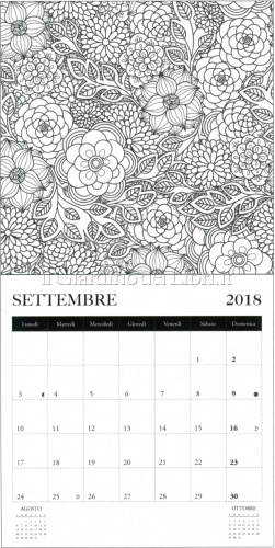 Arte Terapia - Calendario Colouring 2018