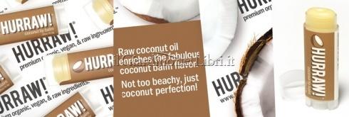 balsamo labbra vegano al cocco