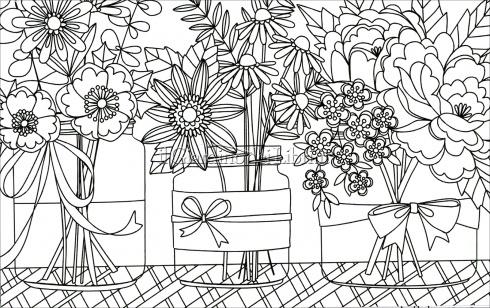 Le Più Belle Cartoline Floreali da Colorare