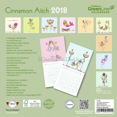 Calendario Green Diary - Cinnamon Aitch 2018