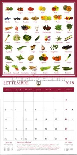 Frutta e Verdura di Stagione - Calendario Goloso 2018