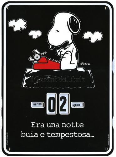 Peanuts - Era una Notte Buia e Tempestosa... - Calendario Perpetuo