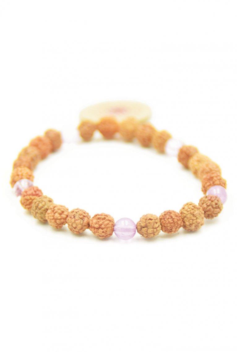 Bliss Bracelet Braccialetto con semi Rudraksha