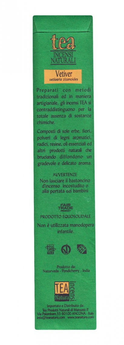 Vetiver - Incenso Naturale - 10 Bastoncini