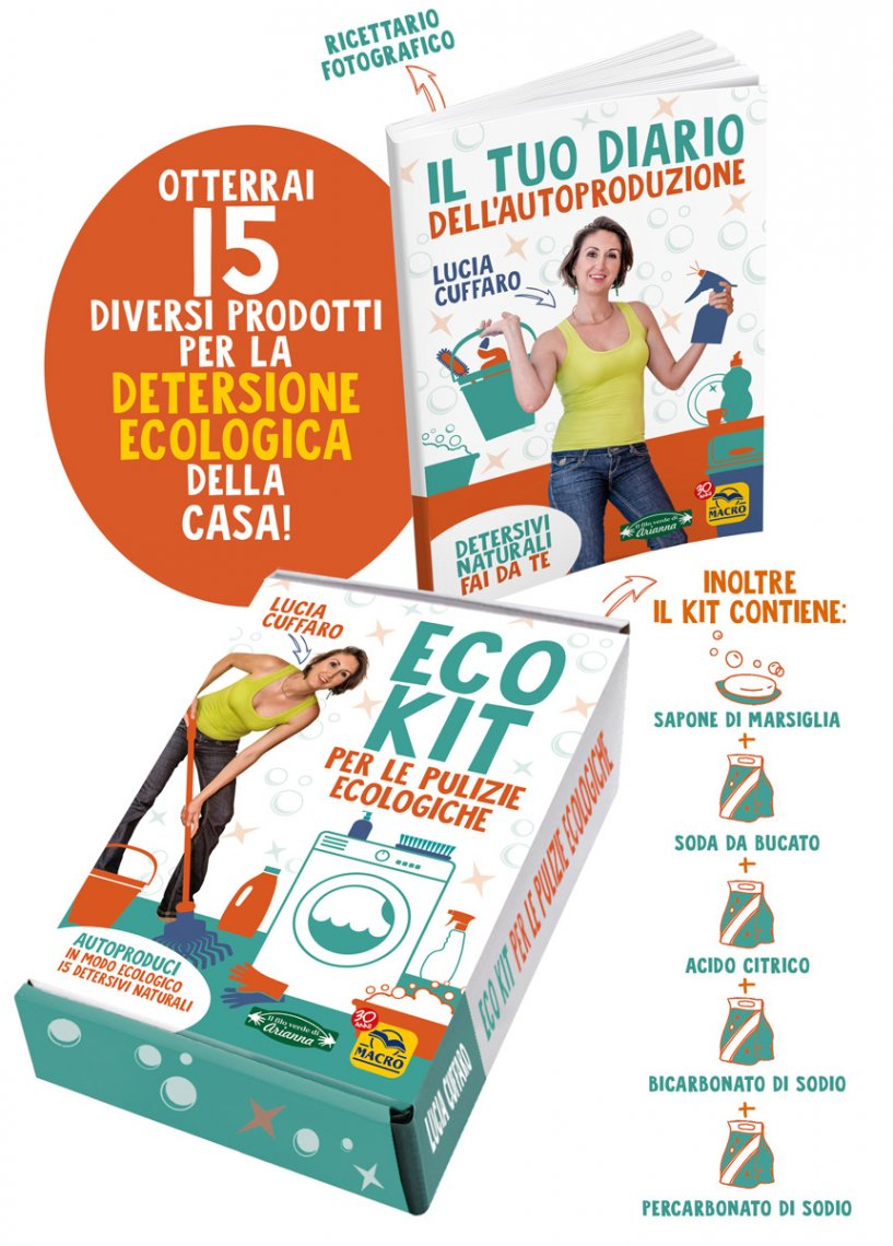 Eco Kit per le Pulizie Ecologiche - Contenuto