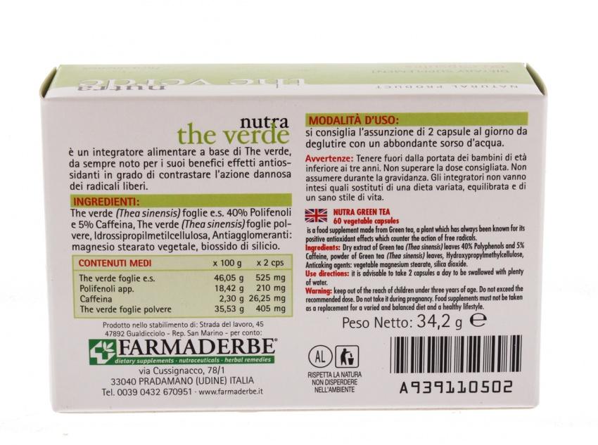 Nutra - Thè Verde 60 Cps