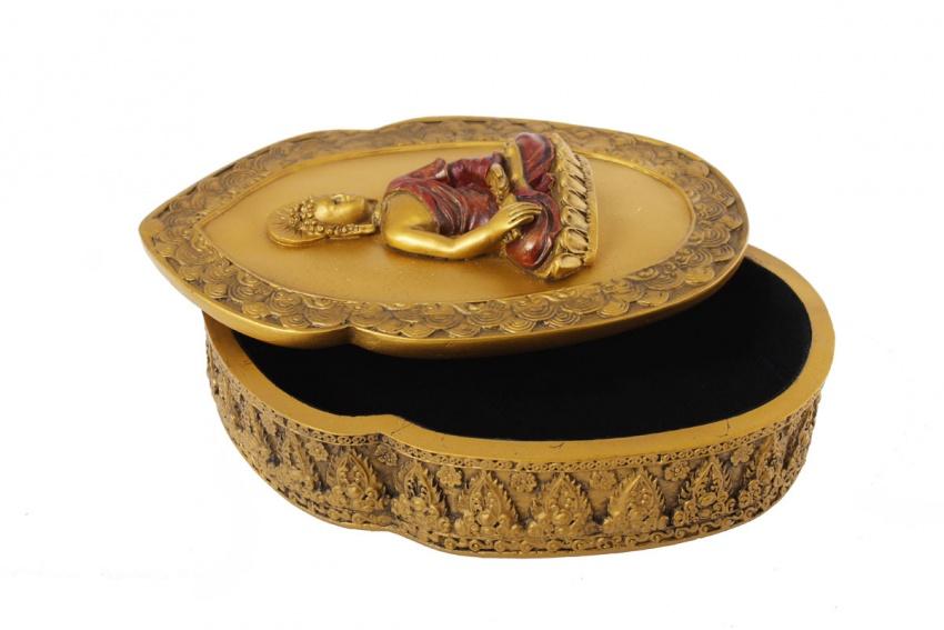 Buddha Cofanetto in Oro