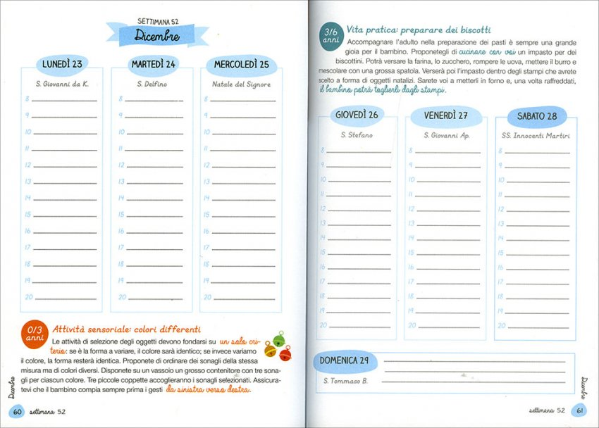 Agenda Montessori - Interno