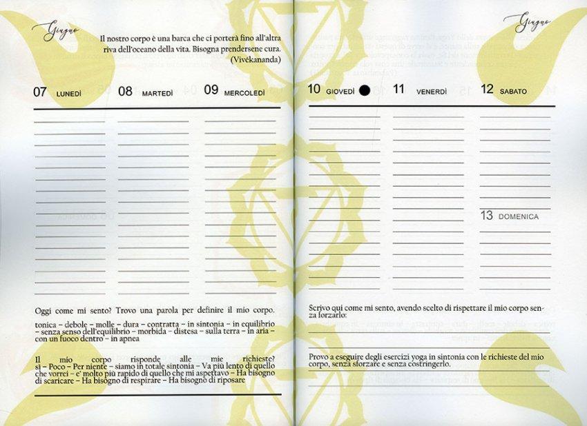 Agenda dello Yoga 2021 - Diario del Corpo - Pagine-interne